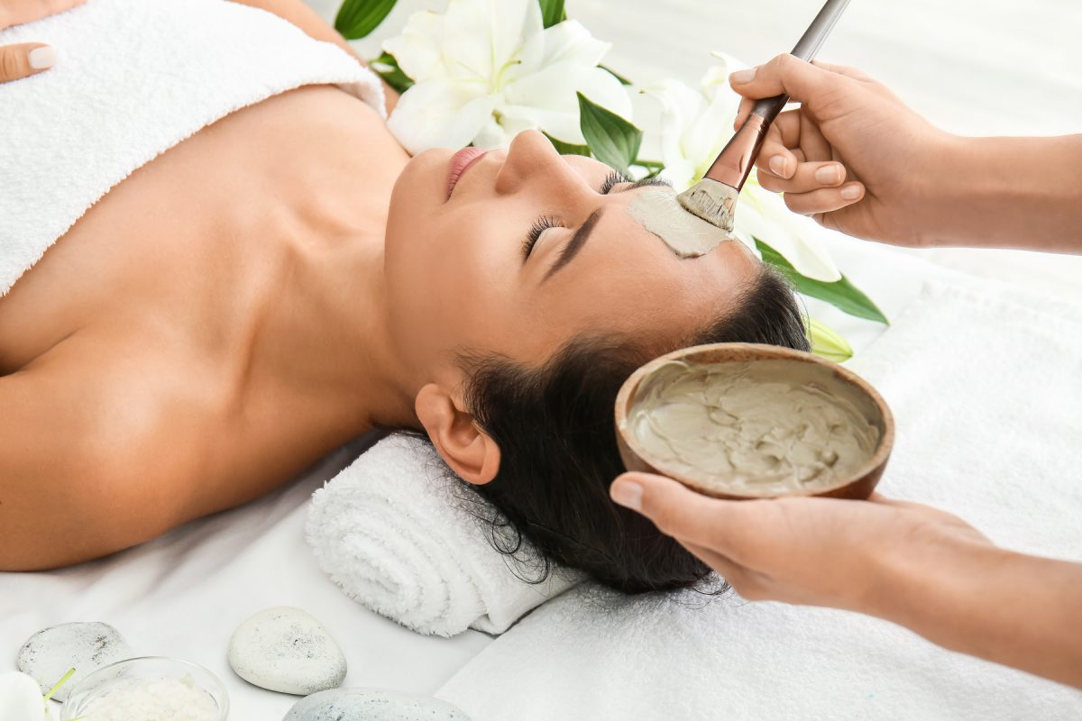 facial mask spa skin treatment
