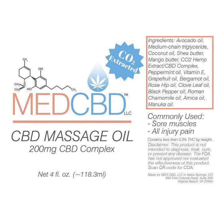 CBD massage oil full spectrum