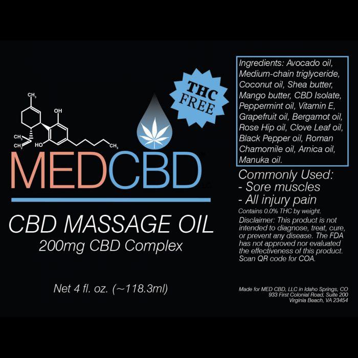 CBD massage oil isolate