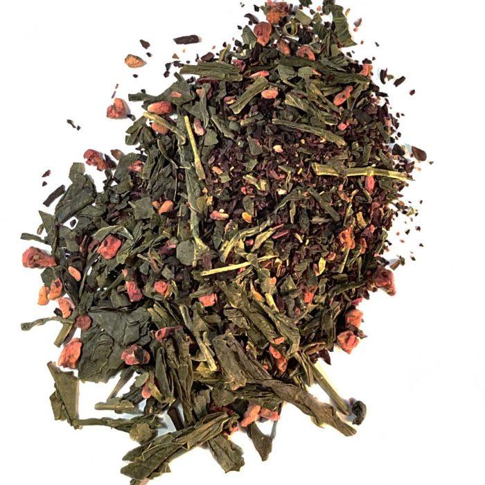 raspberry green tea organic loose leaf