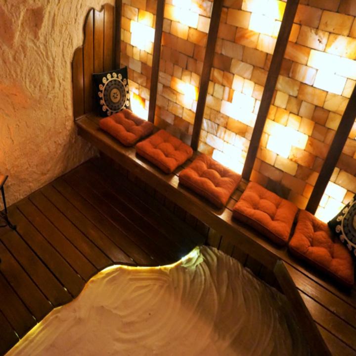 salt cave sauna spa skincare