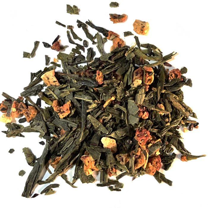 strawberry green tea organic loose leaf
